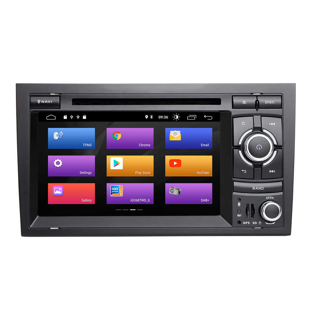 Lettore multimediale per auto 2 Din Android 10 per Audi A4 B6 B7 S4 B7 B6 RS4 Seat Exeo 2002-2008 RS4 B7 Radio 2008-2012 navigazione GPS