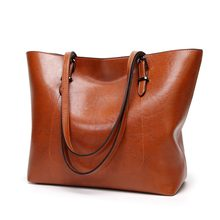 Women Shoulder Bag Fashion Women Handbags Oil Wax Leather Large Capacity Tote Bag Casual Leather women Messenger bag 2019 C835(China)