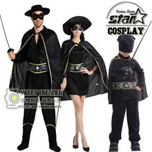 Zorro Robin Costume Halloween Cosplay For Day Mom Kids Boy Anime Role-Playing Disfraces Carnival Toddler Costume Clothing Set