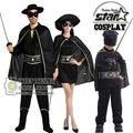 Zorro robin traje de halloween cosplay para día mamá niños boy anime de rol disfraces carnaval toddler costume clothing set