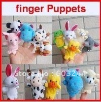 Freeship 40pcs Finger puppets Cloth wool toy Christmas gift stories helper Finger doll Animal dolls Plush toy