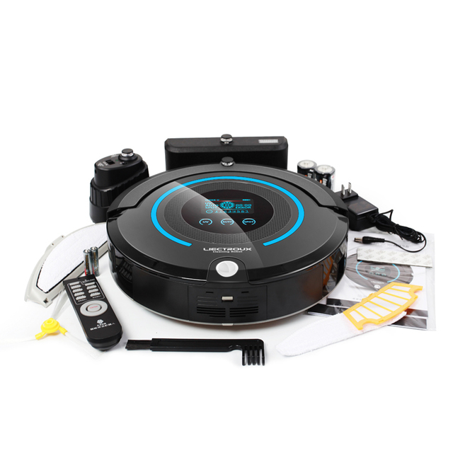 (FBA)2017 Most Advanced Planned Type Robot Vacuum Cleaner A338 (Sweep,Vacuum,Mop,Sterilize),Schedule,Virtual Blocker,Self Charge