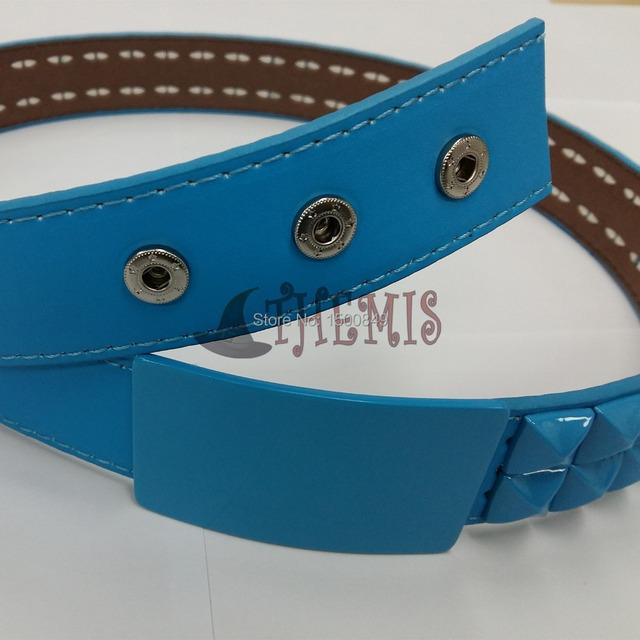 Athemis cinto azul mesma cor Dramatical Murder Seragaki Aoba cosplay belt e artesanais feitos à mão moda jóias