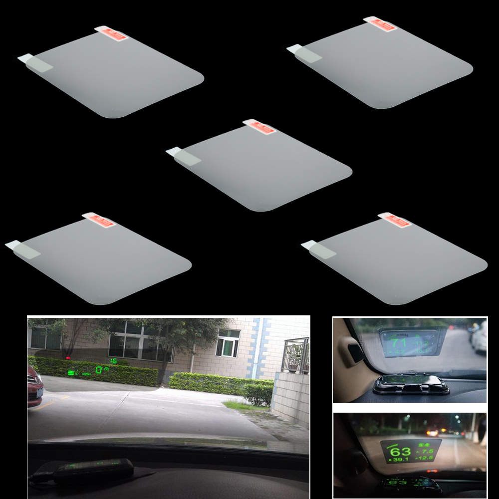 Universal Car HUD Reflective Film 150mm*125mm for Head Up Display Windshield Projector No Mucilage Easy Removed Screen Sticke cactus mucilage as pharmaceutical excipient