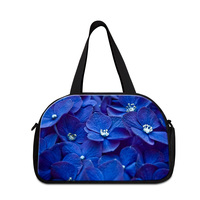 Dispalang New Fashion Flower Printing Women Travel Tote Duffle Bags With Independent Shoes Bit Multifunction Floral