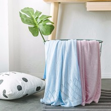 Pink Blue Nordic Plaids Casual Knitted Blankets Tassel koc narzuta 115*125cm Childrens for Beds Sofa Cover Home Decor