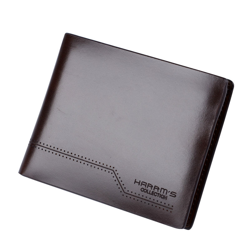 HARRMS Leather Wallet Designer Wallets Famous Brand Men Wallets Mens Purse Long Short Design High Quality harrms genuine leather mens wallets famous brand navy men wallet fashion purse billetera cartera hombre marca