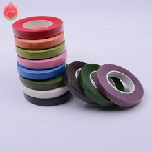 25Meter Paper Garland Tape Artificial Flowers Fixed Supplies For Wedding Decoration DIY Wreath Flores Garland Supplies Tape Glue