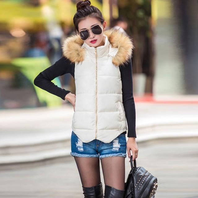 Plus Size Women Vest Fashion Autumn Winter Coat Ladies Gilet Colete Feminino Casual Waistcoat Female Jacket