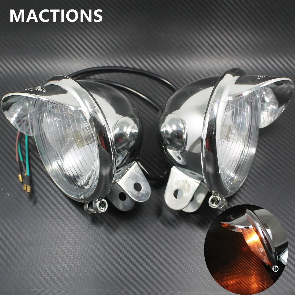 Chrome fog Harley motorcycle headlight Universal DC12V harley davidson headlight price