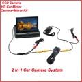 """Kit de Estacionamento de carro Com 4.3 """"TFT Lcd Monitor Do Carro Espelho Retrovisor Monitor + Night Vision Retrovisor Reverso Da Câmera Do Carro"""