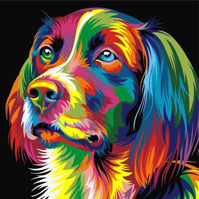 Koop 5d diy diamant schilderen kruissteek kleur cartoon hond foto diamant - Kleur schilderij slaapkamer volwassen foto ...
