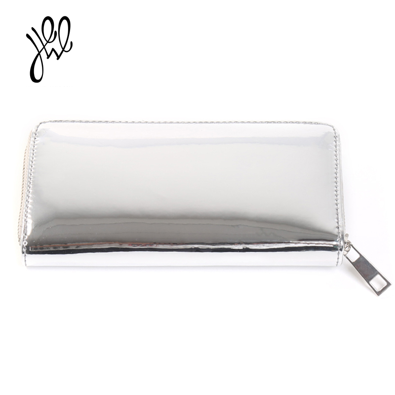 2018 New Fashion Wallet Women Long Mirror Surface Lady Purse Leather Casual Style Wallet Brand Designer Purses For Cards 500696