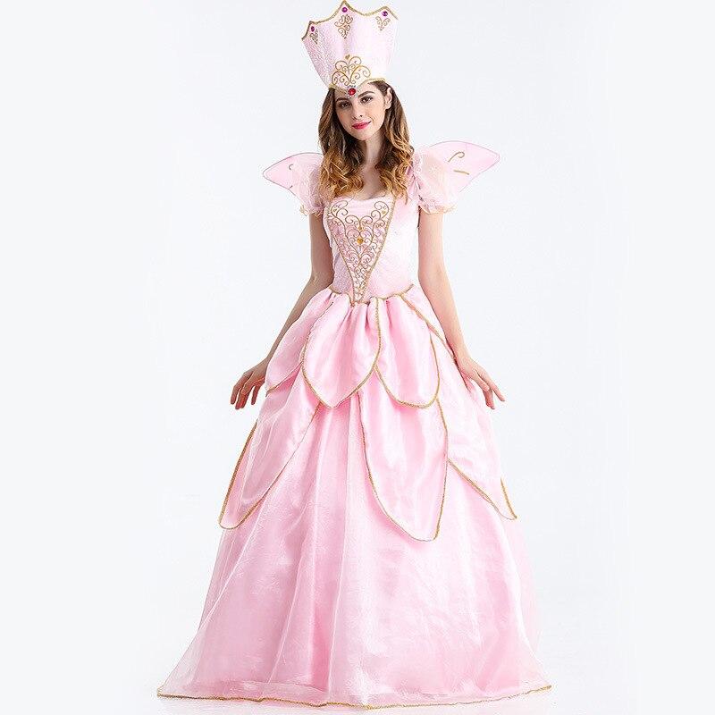 Hot Sexy élégant fée marraine Costume adulte Glinda assistant d'oz Halloween Cosplay Costume fantaisie robe