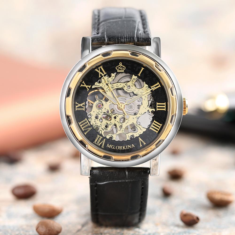 HTB1byEdQVXXXXasXpXXq6xXFXXXN - MG.ORKINA Mechanical Skeleton Watch for Men