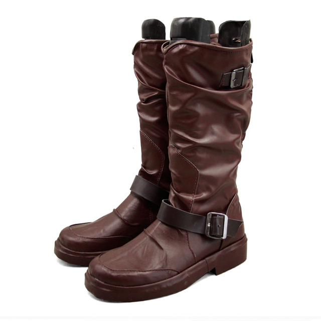 c7c431951b47 Anime Noragami Yato Cosplay Shoes Leather Boots Unisex Custom Size