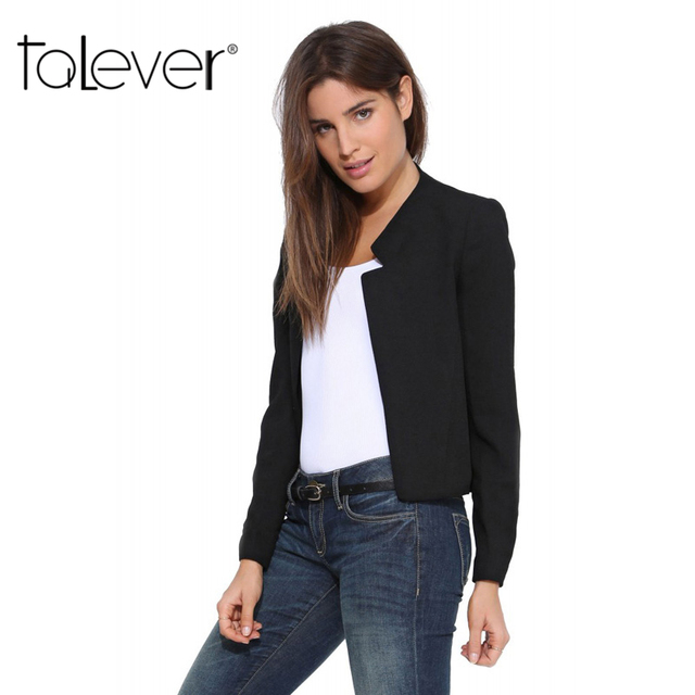 2017 Spring Autumn New Fashion Women's Short Blazer Coat Candy Color Casual Suit Blazer and Jacket Solid  Slim Female Blazers