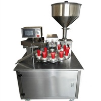 CapsulCN,Auto Ultrasonic Cream Paste Filling Machine Soft Tube Sealer Machine(12 holes )