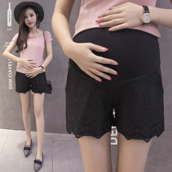 2019 maternity shorts summer new pregnancy clothes fashion lace stomach lift shorts for pregnant women summer casual loose maternity shorts low elastic waist side white strip pregnancy short pants stomach lift pregnant shorts