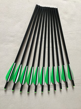 12pcs 13″ Fiberglass Arrow  Crossbow Arrow Bolts with 3″ Plastic Vane Replaceable arrow tip for Outdoor Hunting Shooting