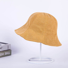 2019 New women Beach hat Sun protection sun Cotton Solid color Couple caps Bucket Hat boy girl Helmet