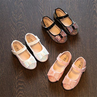See More Children girls bling bowknot cross shoes Girls princess Shoes Flat  casual Shoes pink black white 21-25 A-9 TX07 da639d7cbd6d