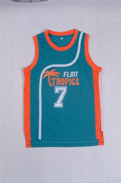 b3c4c7476f6ba Retro Movie Shirt Tank Tops Pro Flint Tropics Jackie Moon 33  Coffee Black  7  Ed Monix 11  Throwback White Green Jersey