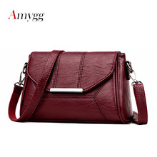 2019 New Soft Crossbody Bags For Women Pu Leather Handbags Designer Women Shoulder Bags High Quality Solid Women Messenger Bags(China)