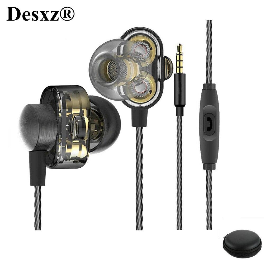 Desxz HD9 проводные наушники fone де ouvido гарнитура Портативный ужин бас стерео наушники с микрофоном для Xiaomi samsung телефон