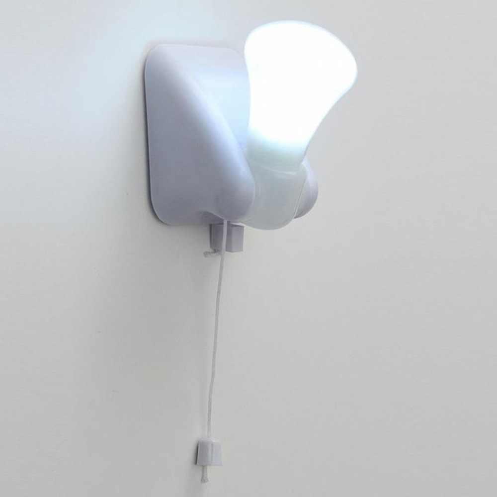 ミニポータブル有線電球シャンデリア led プルコード電球屋外ガーデンキャンプ led ライトランプ