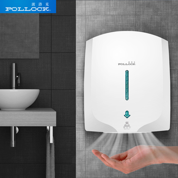 POLLOCK Fully Automatic Induction Intelligent Hand Dryer Hot and Cold Air Home Hotel Bathroom Hand Dryers Hand Drying Machine itas1307 elegant stainless steel high speed hand dryer intelligent induction hand dryer convenience drying hand
