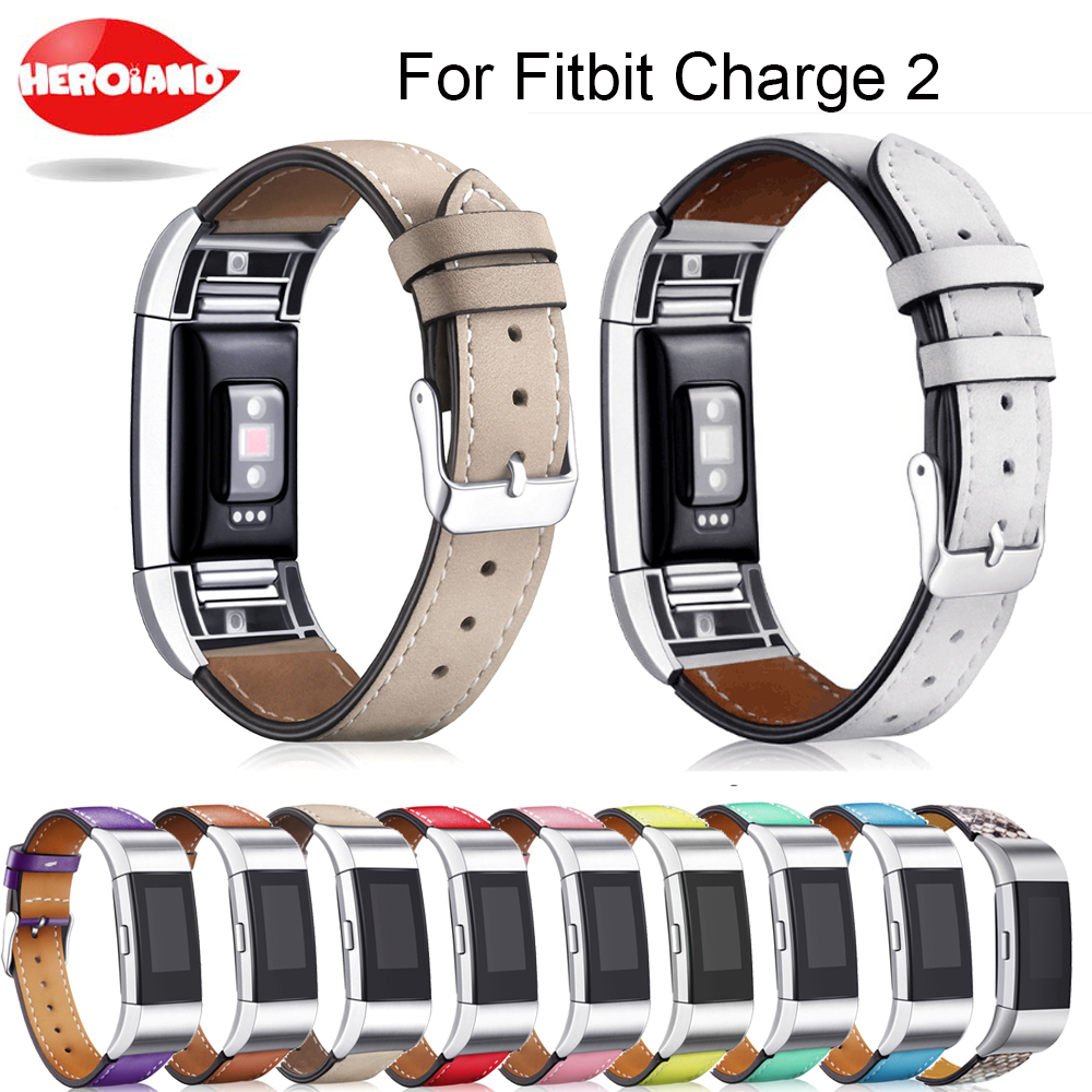 Genuine Leather Band for Fitbit Charge 2 Wristband Band Replacement wrist Strap bracelet for Fitbit Charge 2 Bracelet WatchBand