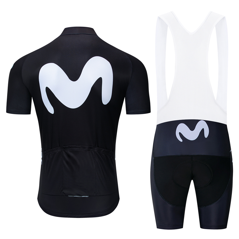 2019 New Team Uniform Movistar Cycling Sets Maillot Ropa Ciclismo Jersey Men Summer Bike Jersey Set Bike Bicycle Wear MTB 9D in Cycling Sets from Sports Entertainment