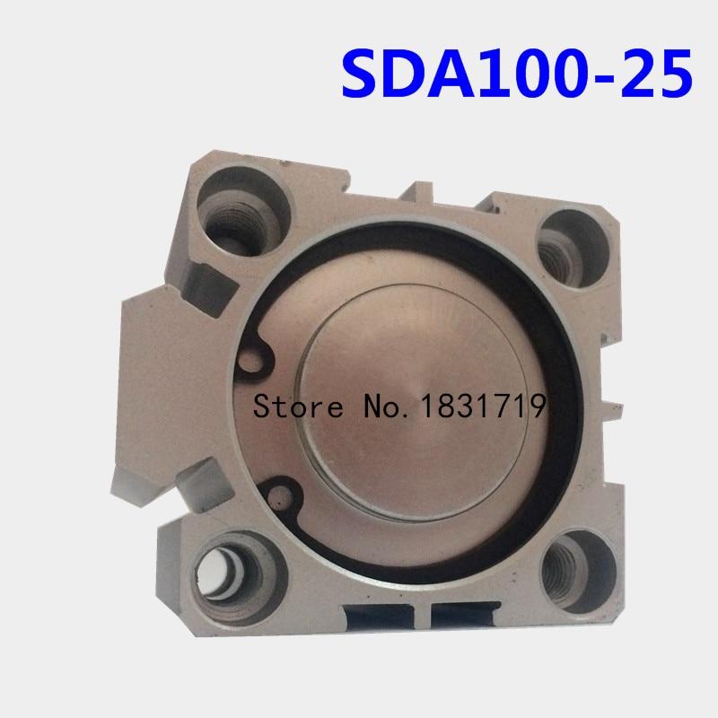 где купить SDA100-25 thin cylinder Series 100mm Bore 25mm Stroke SDA100*25 Aluminium alloy cylinder SDA100X25 дешево