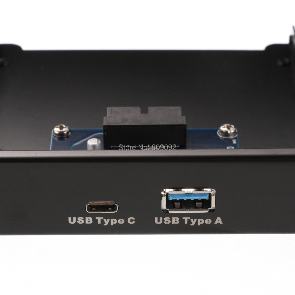 TYPE-C USB3.1 +USB3.0 Dual Port to Motherboard 20Pin 2.5inch Front Panel Bracket Drive Bay usb3 0 round type panel mounting usb connecter silver surface