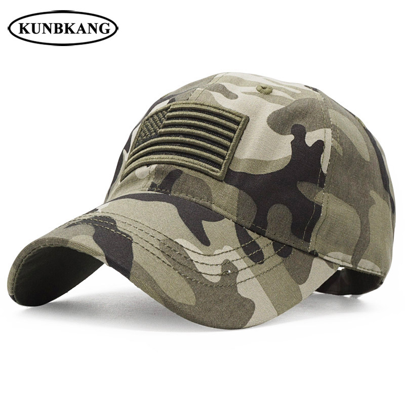 Hot Sale] New Men USA Flag Camouflage Baseball Cap Army