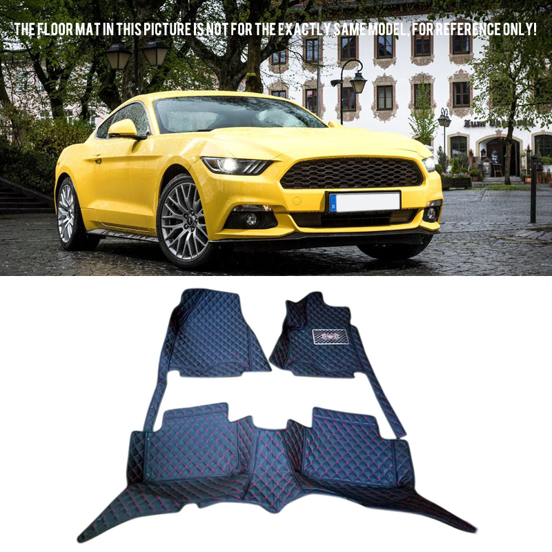 Front and Rear Floor Mats & Carpets Foot Pads Floor Mats Protector For Ford Mustang 2dr 2015 2016 2017 180 16 9 fast fold front and rear projection screen back