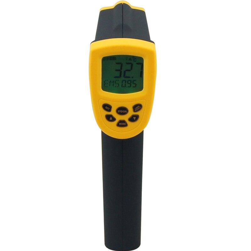 С коробкой цифровой инфракрасный термометр 50 ~ 1050c ( 58 ~ 1992f) AR872D ЖК дисплей ИК лазерная точка Gun Бесконтактный инфракрасный термометр