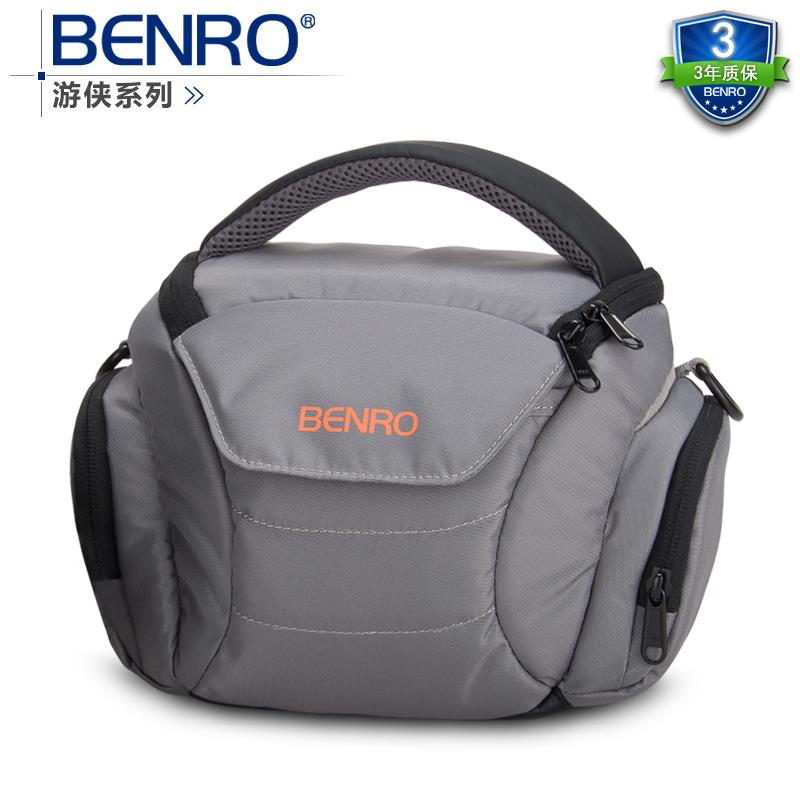 Benro paradise ranger s40 one shoulder professional camera bag slr camera bag rain cover bagsmart dslr slr camera shoulder bag water repellent polyester with rain cover green grey black
