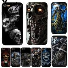 Yinuoda For iphone 7 6 X Case Grim Reaper Skull Skeleton Coque Shell Print Phone for iPhone 6S 8 Plus 5 XS XR
