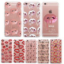 Phone Cases Sexy Girl Kylie Jenner Lips Kiss Clear Silicon Soft TPU Cas