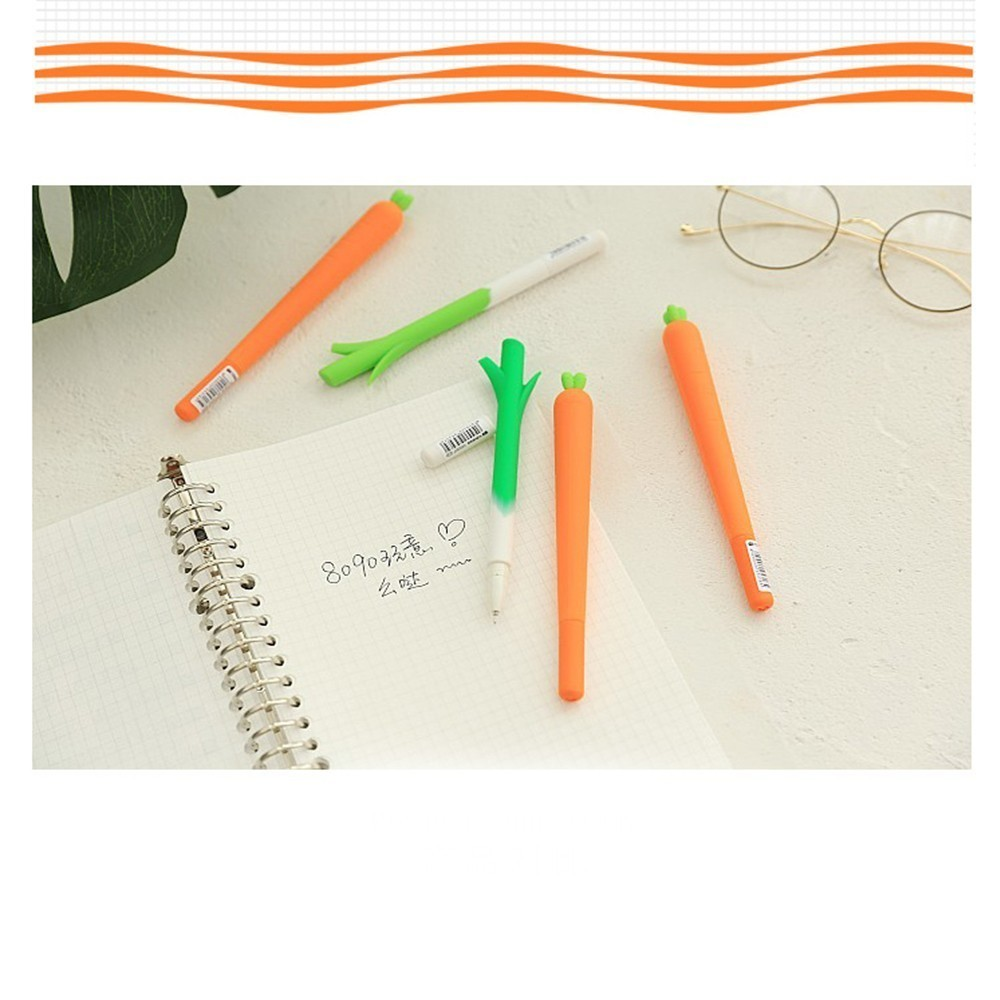 0a42d22d0 BP1 Pack Black Cute items Gel Carrot Model kawaii accessories office and  school craft supplies stationery school-supplies