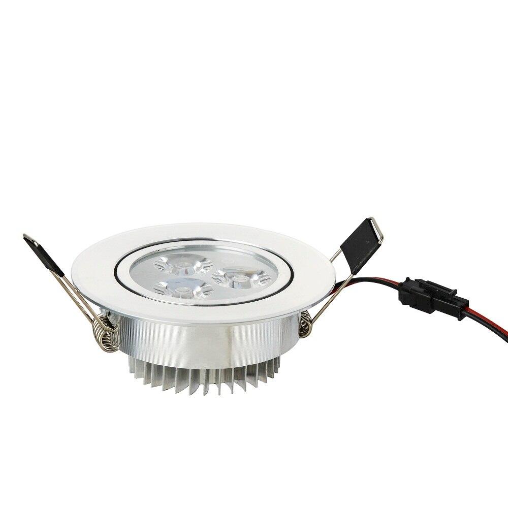 100 шт./лот 3 Вт 6 Вт 9 Вт холодный белый теплый белый dimmable встраиваемые светильники AC110V 220 В для главная Ванная комната Китч магазин огни