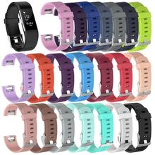 Soft Silicone Sport Watchband Bracelet Belt Replacement Wristband Watch Strap for Fitbit Charge 2 Bracelet Watch Band Promotion silicone rubber bracelet watch strap waterproof convex interface wristband watchband sport wristwatches band 16mm belt