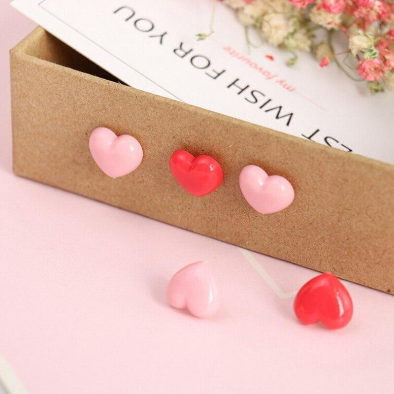 50pcs/pack Creative Romantic heart-shaped Pushpin Cute Pink s