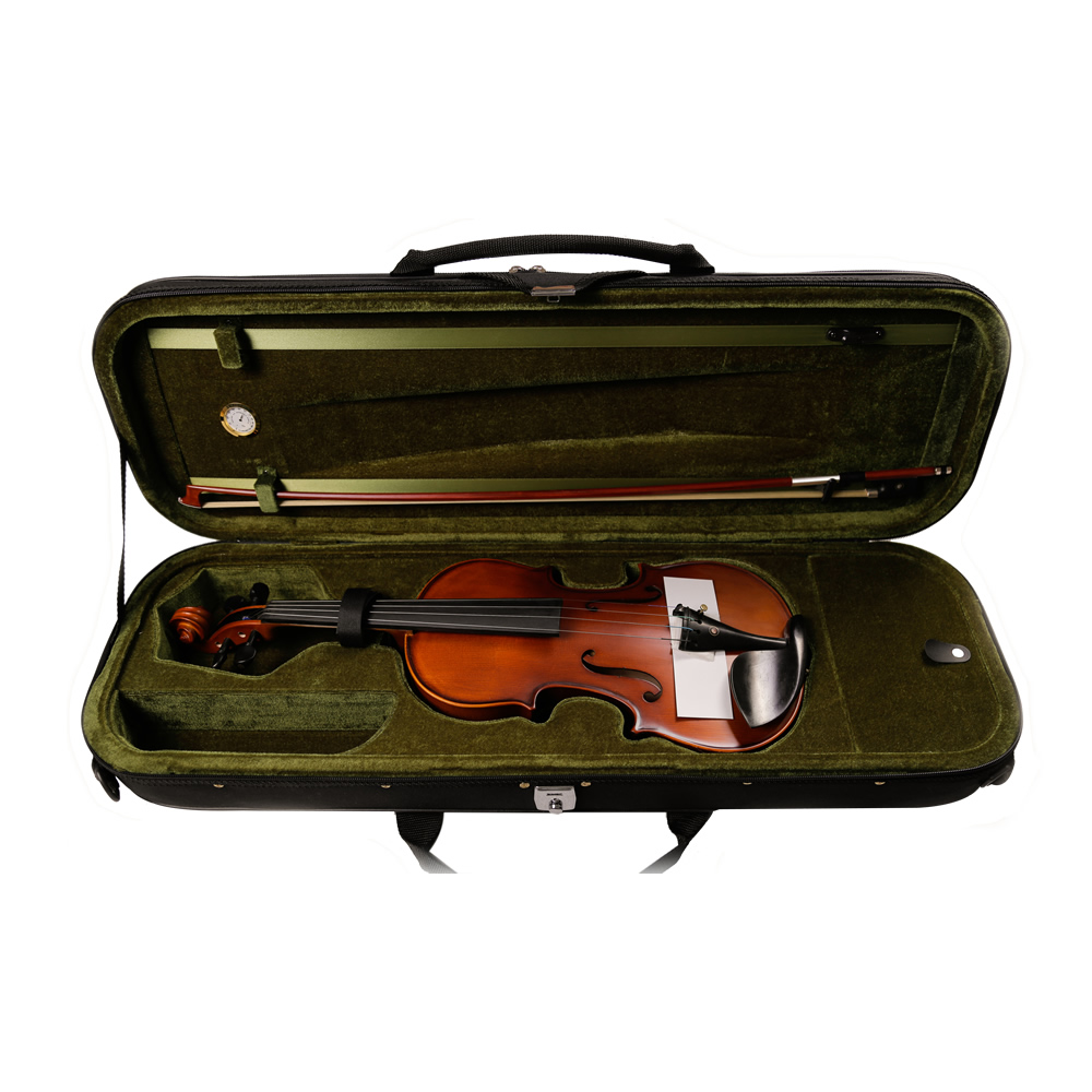 Tongling High Quality Violin Case 4/4 Black Oxford surface with Hygrometer Handmade Beautiful protective Violon Violino Case free shipping high quality 4 4 violin send violin hard case handmade white black electric violin with power lines