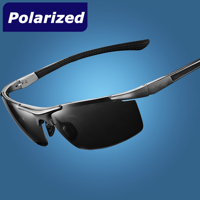 Polarized Men's sunglasses Aluminum magnesium alloy frame polarized car driving fishing sun glasses male eyewear free shipping