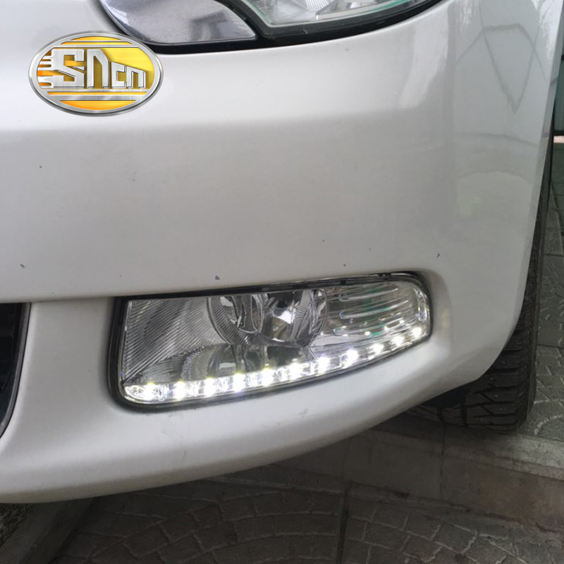 SNCN LED Daytime Running Light For Skoda Superb 2010 2011 2012 2013,Car Accessories Waterproof ABS 12V DRL Fog Lamp Decoration car styling daytime running lights fog lamp drl led abs chrome for toyota land cruiser prado 2010 2011 2012 2013 accessories