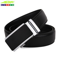 Business Formal Belt Men Gold Silver Automatic Buckle 2017 Fashion Genuine Leather Belts For Male Luxury