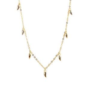 Image 4 - INZATT Echt 925 Sterling Silber Minimalis Wasser Drop Halskette Für Elegante Frauen Partei OL Feine Schmuck Geometrische Zubehör